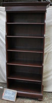 Etag�re biblioth�que en teck H 163 cm