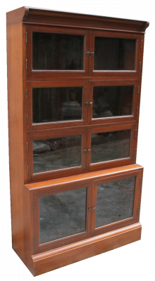 Bookcase with glasses