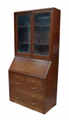 Commode vitrine de paquebot scriban
