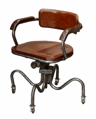 fauteuil de bureau industriel en acier pieds araign e antiquites de marine casque de. Black Bedroom Furniture Sets. Home Design Ideas