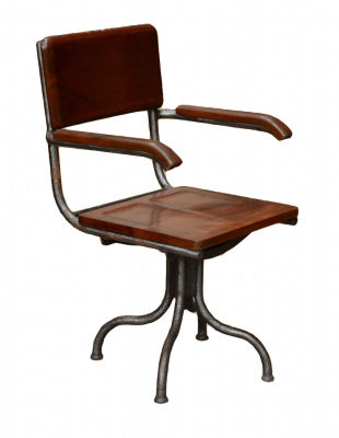 Iron revolving chair