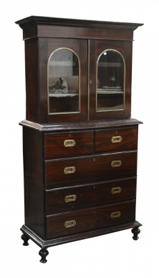 3 parts Rosewood Writing Chest of Drawers