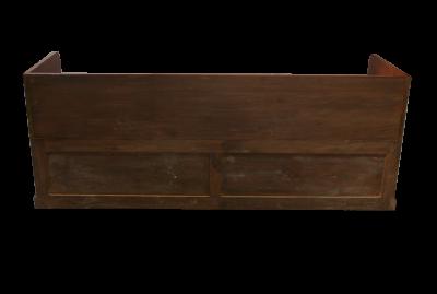 Sofa de bateau acajou 200 cm antiquites de marine for Meuble bateau acajou