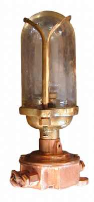 Brass Alleyway Light