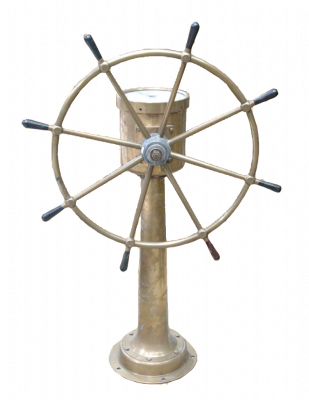 Chadburn Brass Wheel on its stand